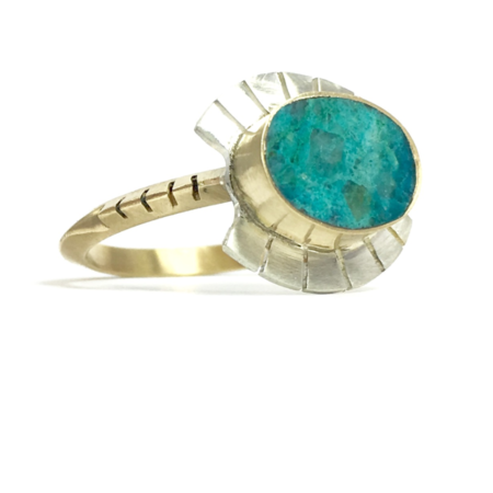 Young In The Mountains Chrysocolla Lash Ring