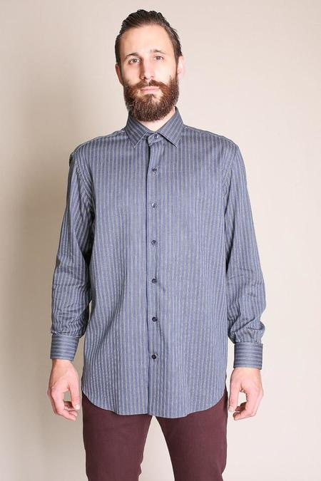 Culturata Soft Stripe Long Sleeve Button Up