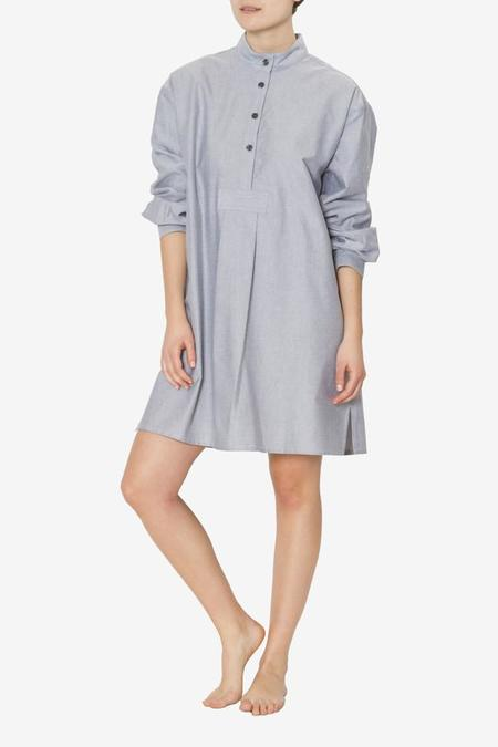 The Sleep Shirt Short Sleep Shirt Charcoal Chambray