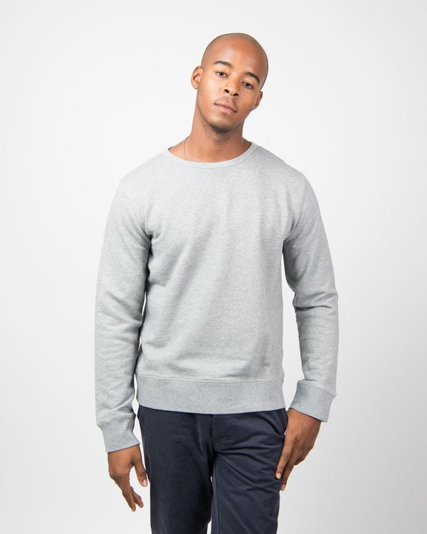 Officine Generale Sweat French Terry - Mid Grey