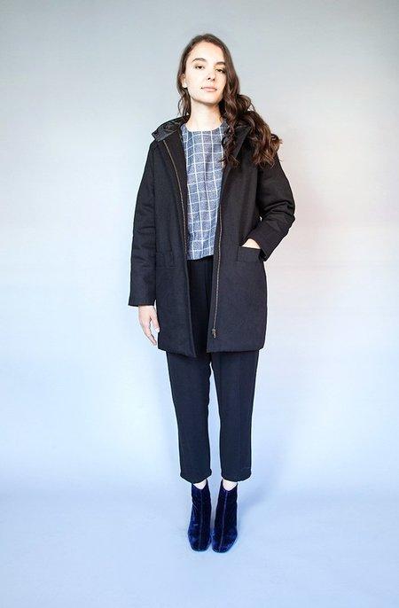 Valérie Dumaine Paden Coat Black Denim Twill