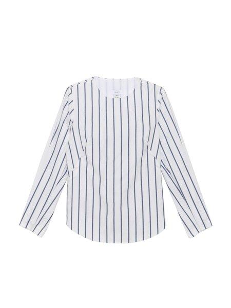 In God We Trust Fowler Top - Navy Stripe Cotton