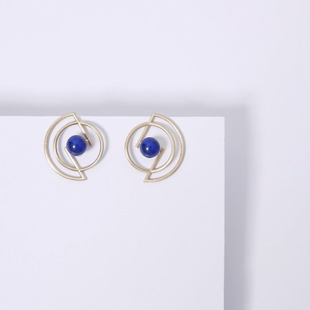 Metalepsis Projects Volten Earrings- Lapis