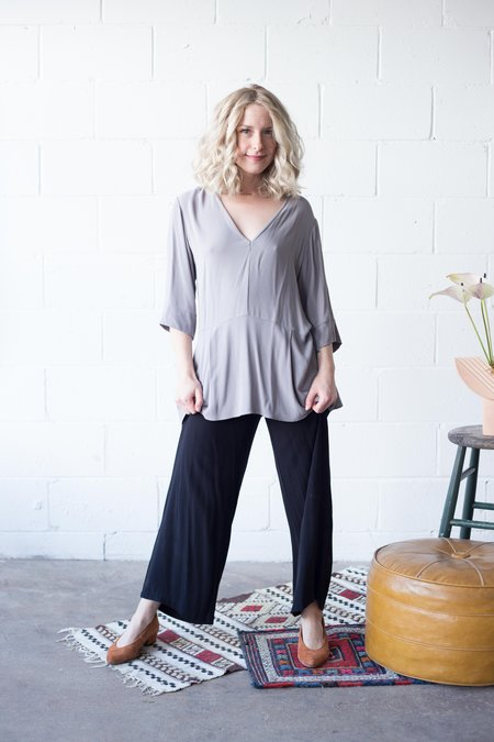 Dagg & Stacey Harbor Blouse - Grey