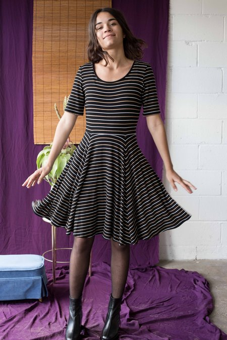 Meemoza Mara Dress - Brown Stripes