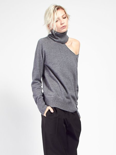 Skin Phoebe Sweater - Charcoal