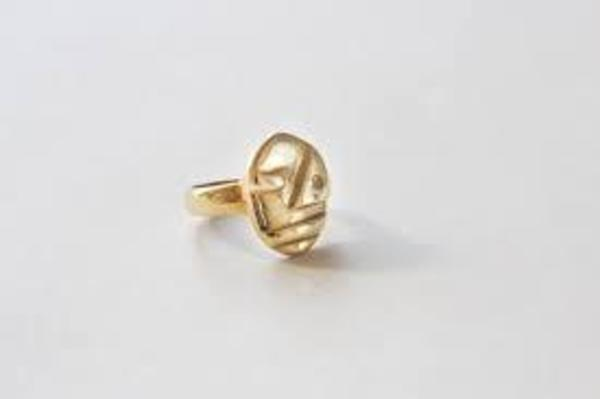 Seaworthy Sophie Abstract Face Ring