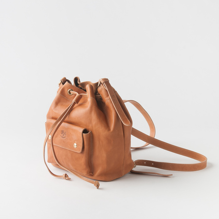 Il Bisonte Cowhide Backpack in Vachetta Petra