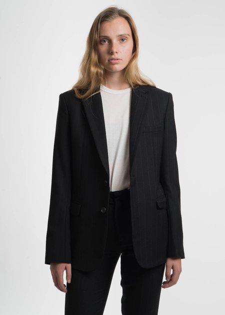 Dressed Undressed Black Striped Color Block Blazer