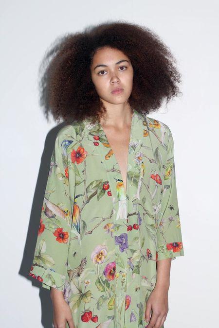 Strathcona Earthly Silk Kimono Robe