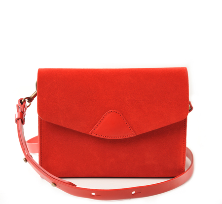 VereVerto Cherry Suede Mini Mox Bag