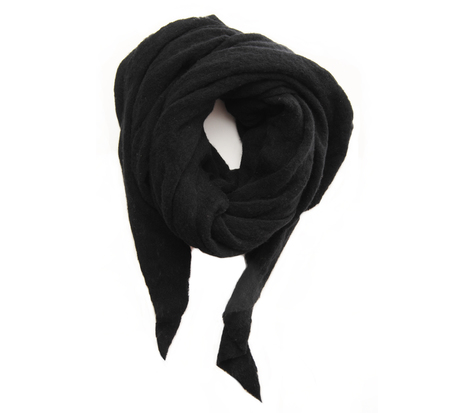 Botto Giuseppe Black Diamond Shaped Cashmere Scarf