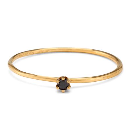 Satomi Kawakita R1601W 18K Black Diamond Ring