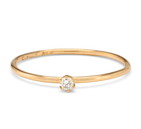 Satomi Kawakita R1601W 18K White Daimond Ring