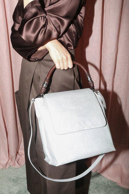 Rachel Comey Atwood Bucket Bag in Grey Croc