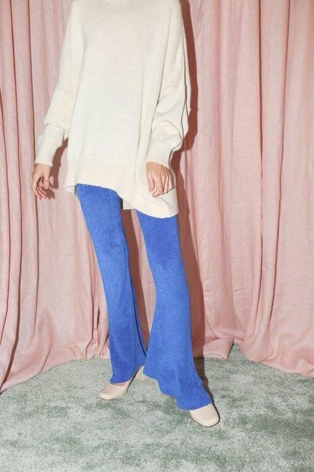 Pari Desai Ray Flare Knit Pant in Lapis