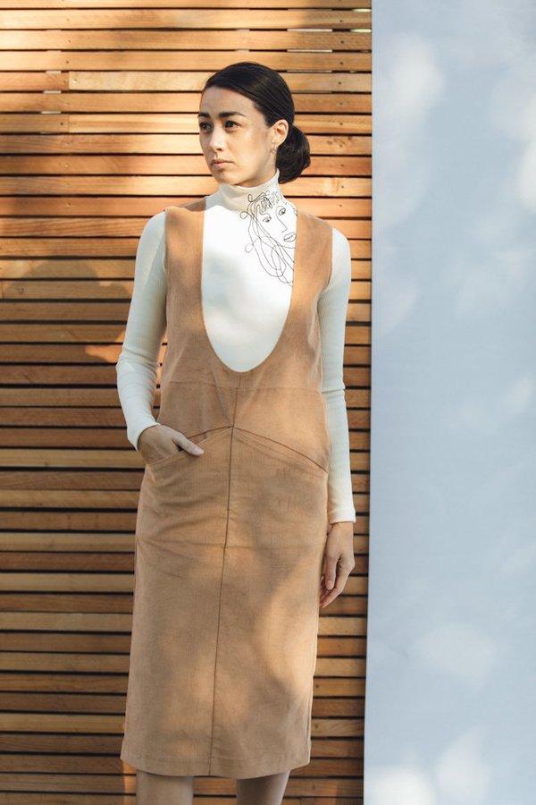 Desiree Klein Elevado Dress in toast