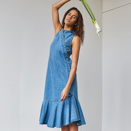 Ajaie Alaie Bonita Dress - Denim