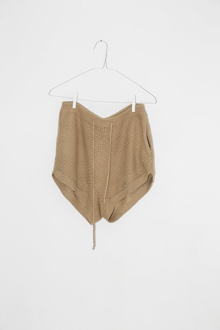 Unisex Giu Giu Brickstitch Short in Camel