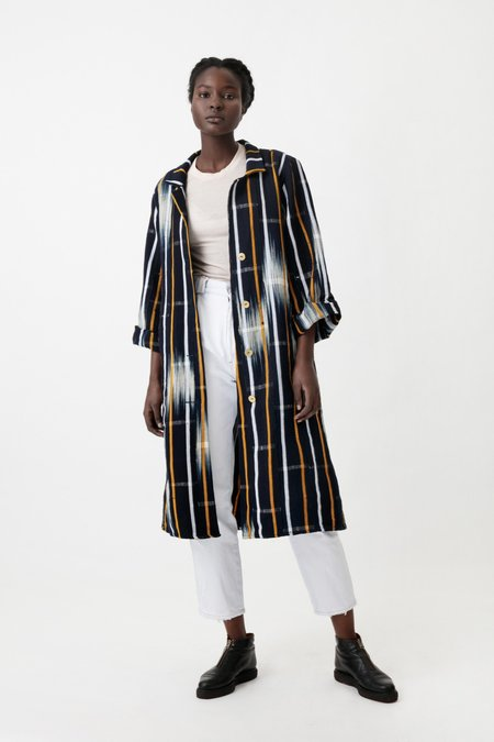 Osei-Duro Handwoven Trench in Ikat