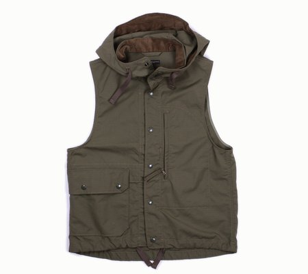 Engineered Garments Field Vest | Olive Nyco Ripstop