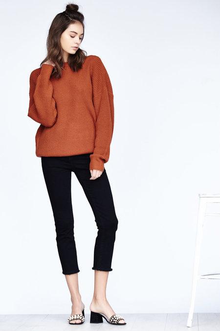 Callahan Shaker V Back Sweater