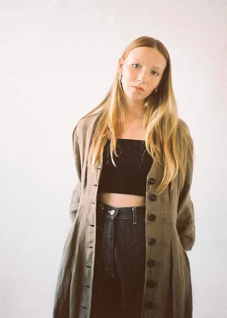 Penny Sage Neneh Coat Dress - Hemp