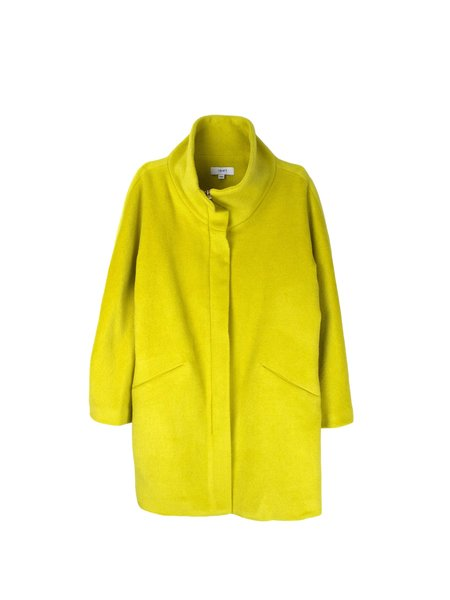 In God We Trust Tammy Coat - Chartreuse Cashmere