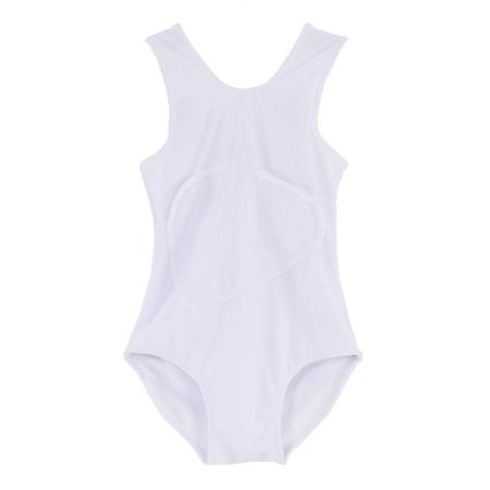 Kid's Slow and Steady Wins the Race Bathing Suit - White
