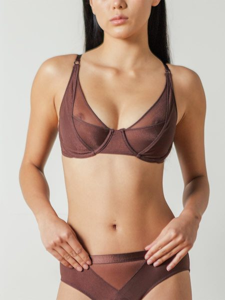Lonely Thea Underwire Bra in Mulberry