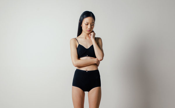Botanica Workshop Astra Hi-Waist Brief in Black