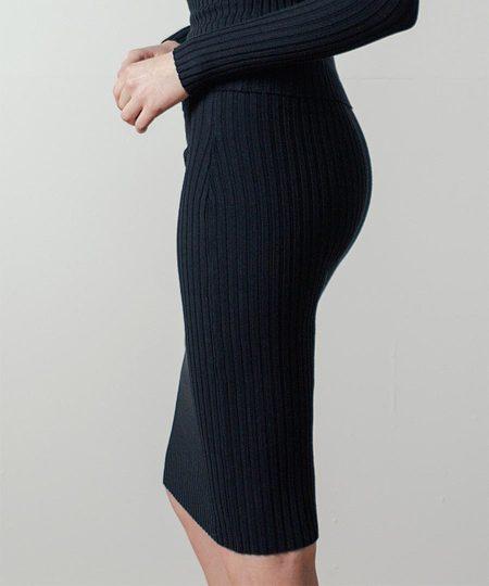 Giu Giu Nonna Tube Skirt in Black