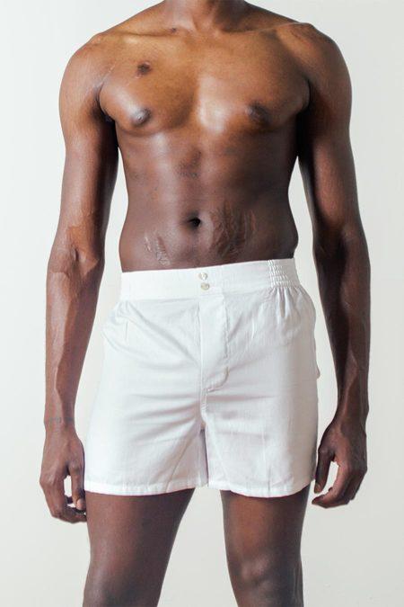 Hamilton & Hare The Boxer Short in White