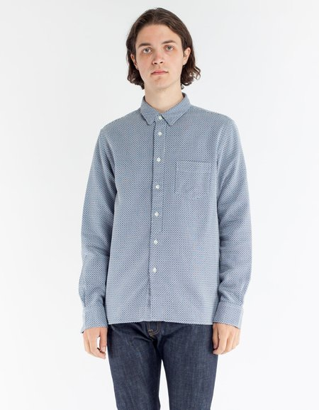 La Paz Lopes Shirt - Blue/White Pattern