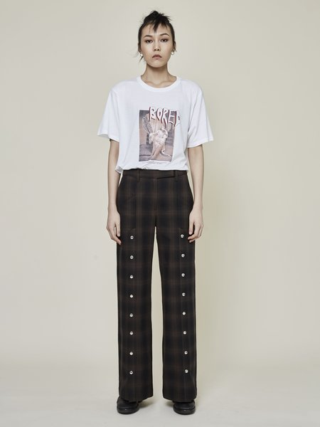 Rask Plaid Slit Pant