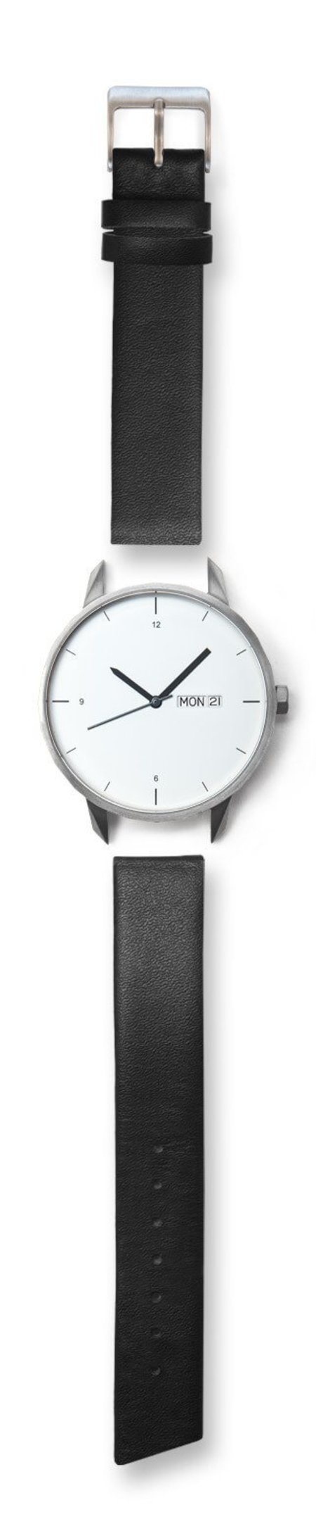 Unisex Tinker Watches 42mm Silver Watch Black Strap