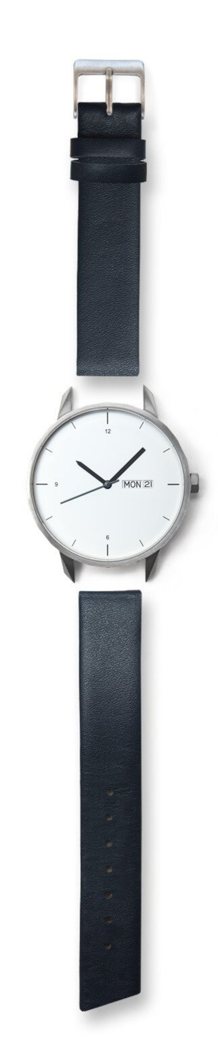 Unisex Tinker Watches 42mm Silver Watch Navy Strap
