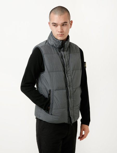 Stone Island Down Vest - Garment Dyed Crinkle Reps
