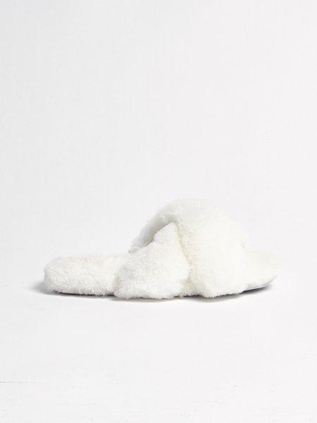 Ariana Bohling Criss Cross Slides - Ivory