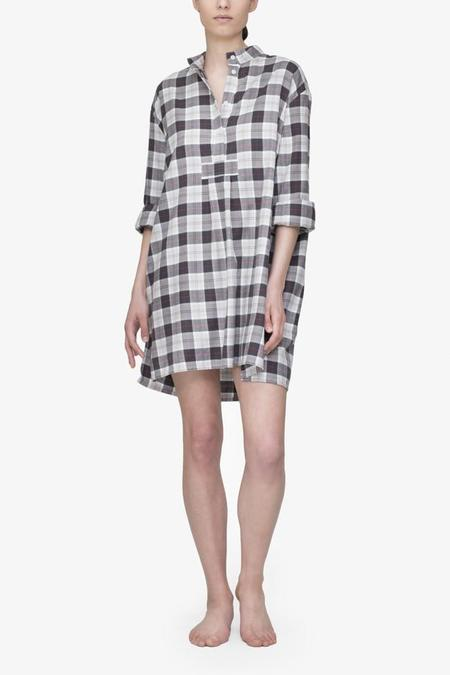 The Sleep Shirt Short Sleep Shirt Grey Carnaby Plaid
