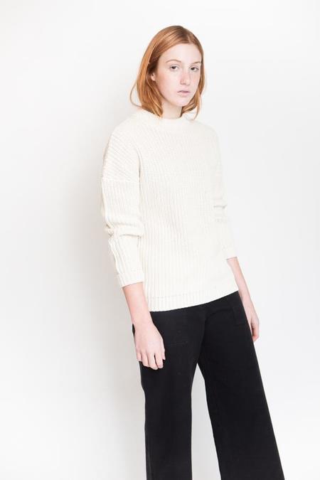 Callahan Shaker Boyfriend Sweater - Creme
