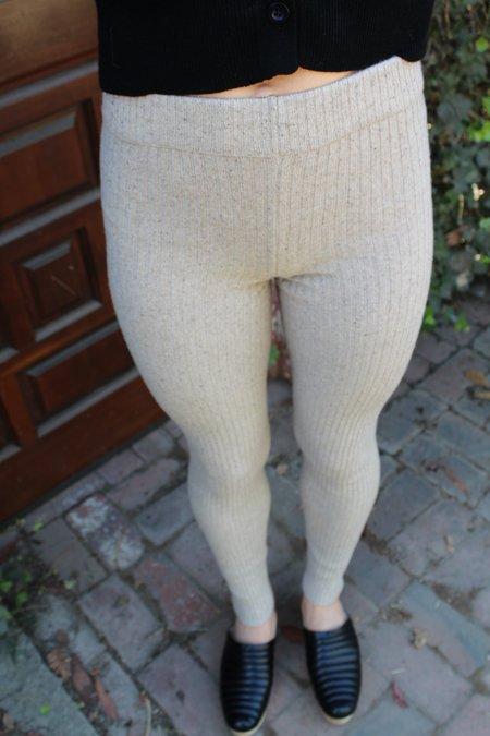 Micaela Greg Rib Legging - Speckle Camel