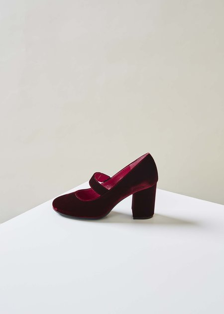 Baby & Company Velvet Mary Jane Heel