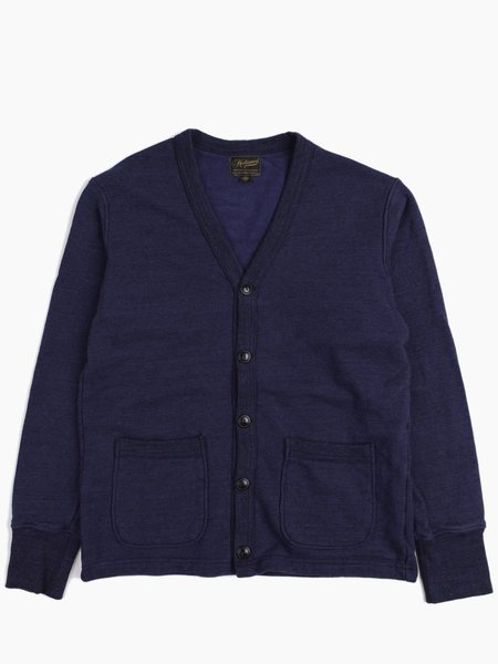 National Athletic Goods Varsity Cardigan 11oz Fleece Indigo