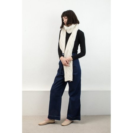Micaela Greg Twist Scarf in Cream