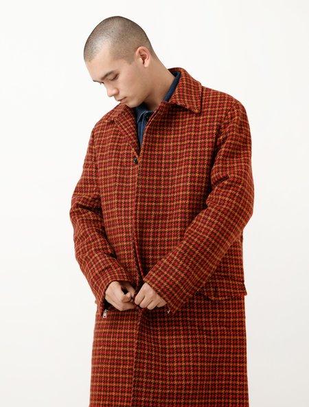Marni Houndstooth Coat - Red/Orange