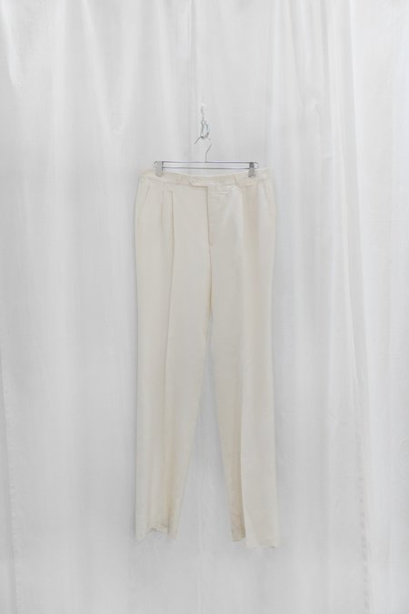 Moth Oddities Vintage 1980's Yves Saint Laurent Ivory Trousers