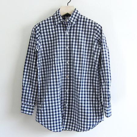 P.S. Shirt Long Boy Shirt - Navy Check