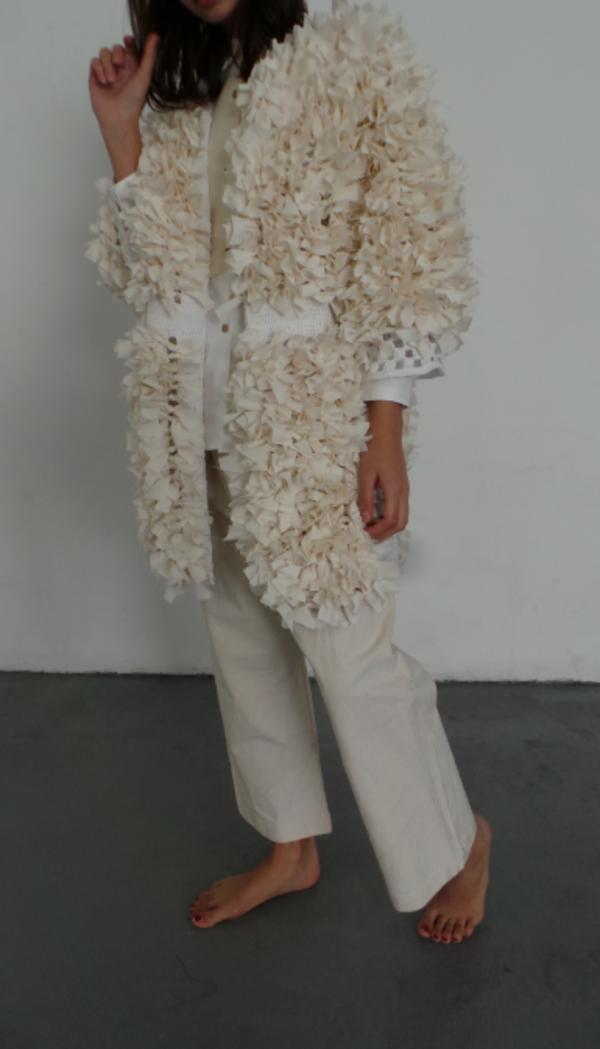 M.Patmos Marianne Crocheted Coat - Ivory
