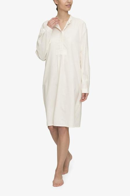 The Sleep Shirt Long Sleep Shirt Cream Herringbone